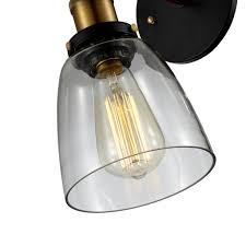 Wall Mount Sconce Edison Simple Glass Wall Mount Sconce Bulb Included Clear