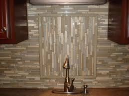 glass and stone backsplash with accent closeup new jersey custom