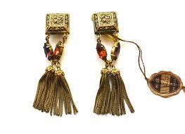 1960 s earrings tassel earrings 1960s sarara couture