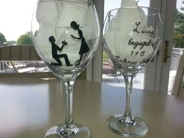 Wedding Gift Glasses 181 Best Wine Glasses Images On Pinterest Bridesmaid Gifts