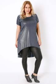 black wet look leggings with elasticated waist plus size 16 to 36
