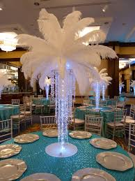 white ostrich feather centerpieces rental purchase accessories