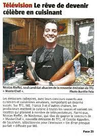 emission tf1 cuisine nicolas rieffel seul candidat alsacien à l émission masterchef sur