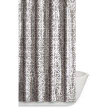 White And Grey Curtains Shower Curtains Shower Accessories The Home Depot