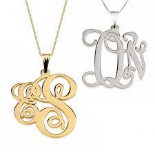 necklace monogram letter monogram necklace