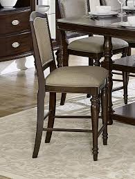 wood counter height table 8 pc espresso wood counter height dining set by homelegance