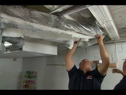 How To Insulate Your Basement by How To Insulate Ductwork Youtube
