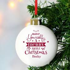Cheap Personalised Christmas Decorations Personalised Christmas Baubles And Decorations