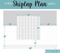shiplap diy faux shiplap wall