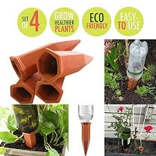 dproptel 4 pack terracotta plant waterer self watering plant