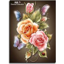 flowers butterfly resin products diy painting