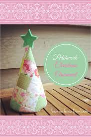 patchwork christmas tree ornament tutorial sewn up