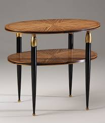 Brass Accent Table Nouveau Style Oval Accent Table With One Shelf Zebrawood