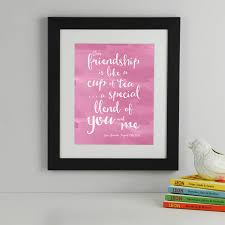 friendship quote photo frame personalised friendship quote print by elephant grey