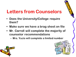 Guidance Counselor Brag Sheet Application Avon Grove High Guidance
