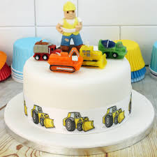 construction cake toppers builder cake topper construction vehicle candles digger