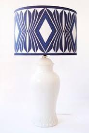 Small Blue Desk Lamp Small Dark Blue U0026 White Rectangular Porcelain Lamp Dark Blue