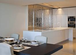 kitchen feature wall ideas white kitchen island silver feature wall interior design ideas