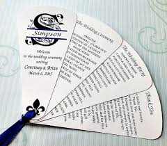 how to make fan wedding programs wedding program fans petal fan wedding fan split monogram by 4