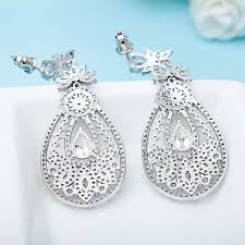 chandelier wedding earrings extravagant cubic zirconia big chandelier wedding earrings