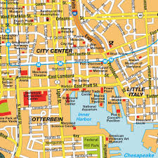 Map Of Central Usa by Map Baltimore Md City Center Maryland Usa Central Downtown