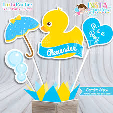 rubber duck baby shower rubber ducky baby shower centerpiece baby shower boy decor center