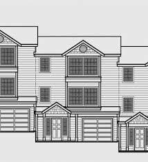 triplex house plans triplex house plans with garage t 412 2