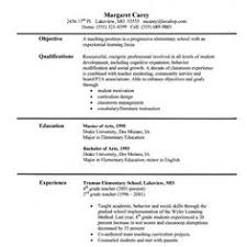 Resume Samples For Teachers Job by Sample Teaching Resumes For Preschool Preschool Teacher Resume