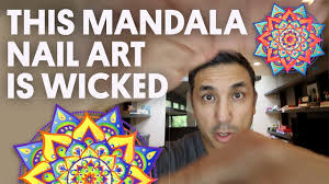 this mandala nail art is wicked hand painted nail art vlog 32