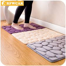 Memory Foam Rugs For Bathroom Rfwcak Coral Fleece Bathroom Memory Foam Rug Kit Toilet Pattern