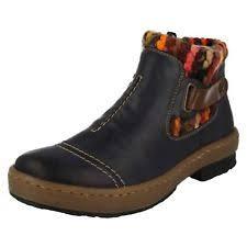 rieker s boots australia rieker ankle boots z6784 blue combi standard 8 5 ebay