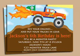 monster truck birthday invitations best invitations card