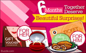 gift of the month ideas anniversary gift ideas to celebrate 6 months of togetherness