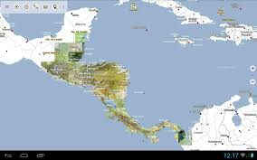 Central America And The Caribbean Map by Central America Topo Maps Free Android Apps On Google Play