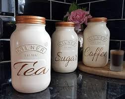 kitchen tea coffee sugar canisters cream copper hand painted tea coffee sugar canister set kitchen