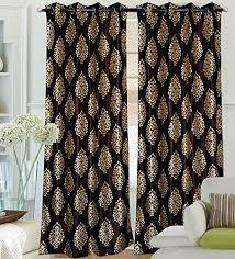 Premium Curtains Home Decor Premium Ethnic Curtain 4 7 Brown 2 Curtains