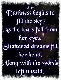 image result for tear dropping from left eye grief quotes
