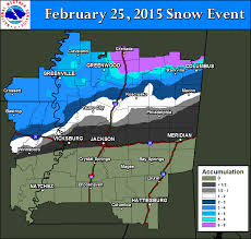 Jackson Ms Map Nws Jackson Ms February 25 2015 Snow