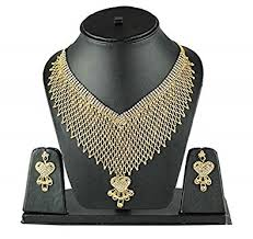 buy eshopitude indian traditional design full neck gold plated