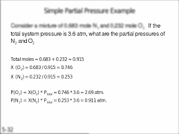 if the total system pressure is 3 6 atm what are the partial
