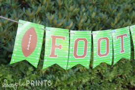 Welcome Home Banners Printable by Free Printable Football Banner Tatertots And Jello