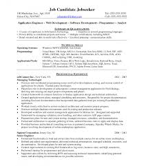 business resume template free web development manager resume java application experience