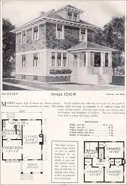 foursquare house plans american foursquare pyramidal roof c 1923 c l bowes