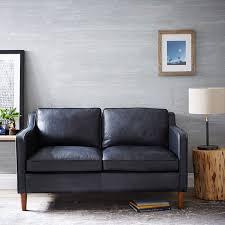 Loveseat Black Leather Hamilton Leather Loveseat 56
