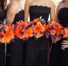 purple and orange wedding dress bouquets wedding flowers photos purple orange wedding flowers