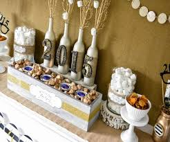 new year s decor decorating white and brown new years party decorations