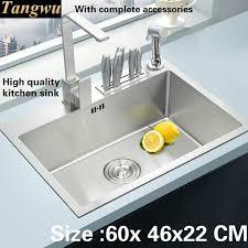 high end kitchen sinks tangwu handmade high end kitchen sink 4 mm thick food grade 304