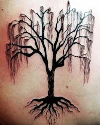 black dead tree with roots tattooimages biz