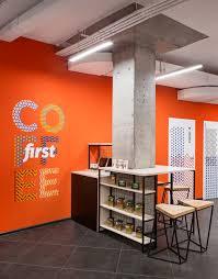 Orange Walls Friends English Club Interior Design For The English Language