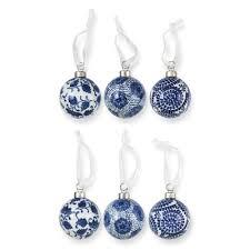 ceramic ornaments set of 6 williams sonoma